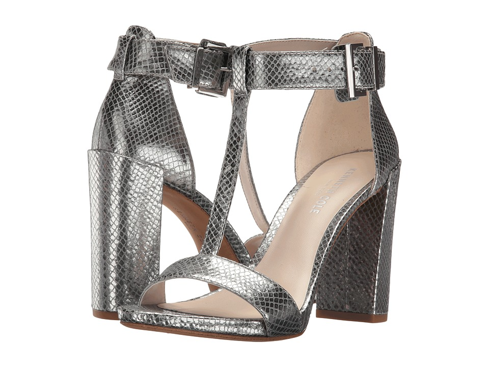 Kenneth Cole New York Daisy (Pewter Embossed Leather) High Heels