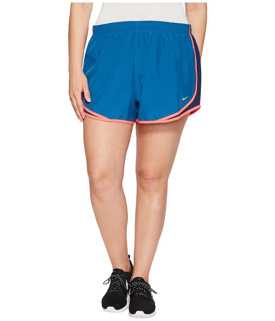 Nike Dry Tempo 3 Running Short (Size 1X-3X) (Industrial Blue/Binary Blue/Wolf Grey) Women