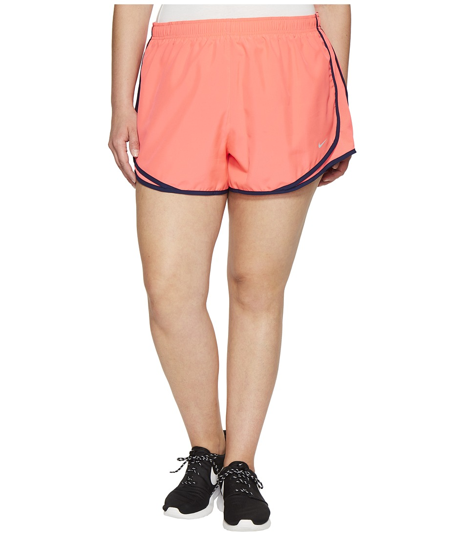 Nike - Dry Tempo 3 Running Short (Size 1X-3X) (Racer Pink/Racer Pink/Wolf Grey) Women's Shorts