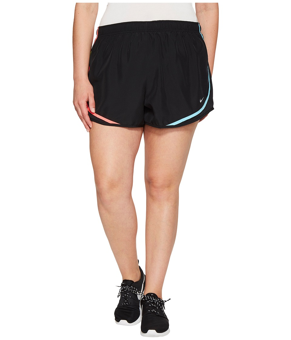 Nike - Dry Tempo 3 Running Short (Size 1X-3X) (Black/Racer Pink/Wolf Grey) Women's Shorts