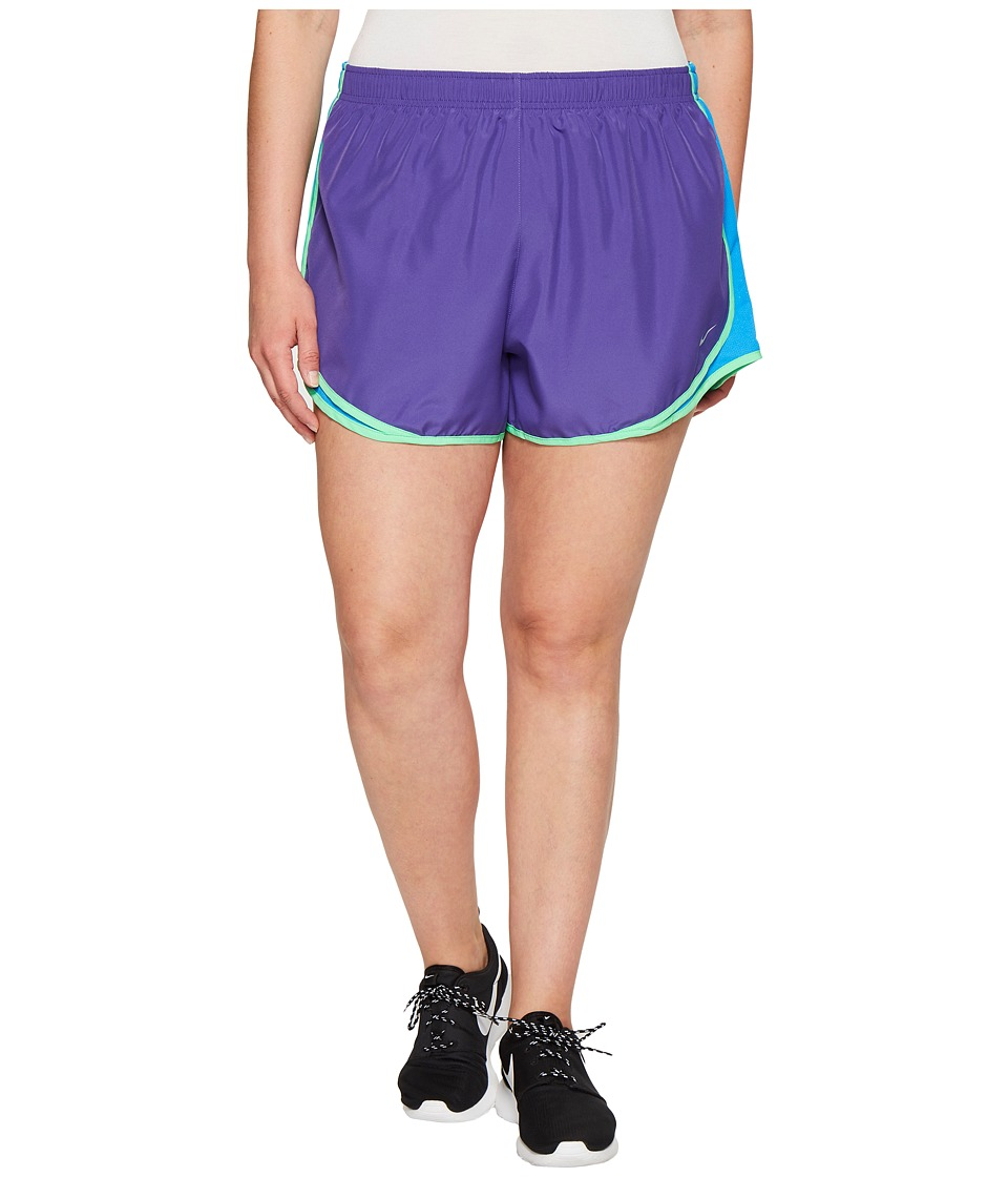 Nike - Dry Tempo 3 Running Short (Size 1X-3X) (Dark Iris/Light Photo Blue/Wolf Grey) Women's Shorts