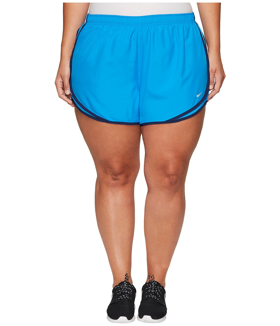 Nike - Dry Tempo 3 Running Short (Size 1X-3X) (Light Photo Blue/Light Photo Blue/Wolf Grey) Women's Shorts