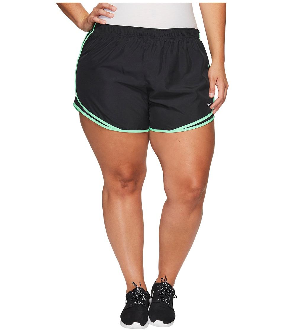 Nike - Dry Tempo 3 Running Short (Size 1X-3X) (Black/Black/Electro Green/Wolf Grey) Women's Shorts