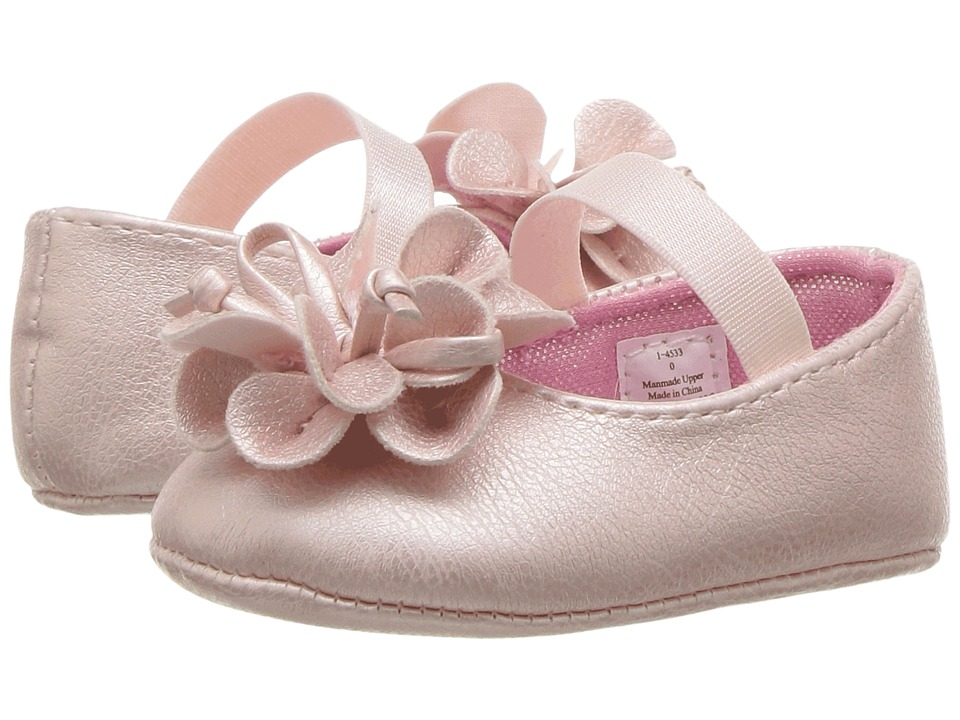 Baby Deer - Ballet Skimmer with Flower (Infant) (Pink) Girls Shoes
