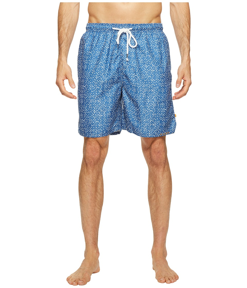 True Grit - Waterman Bali Drawstring Swim Shorts w/ Lining (Blue) Men's Swimwear