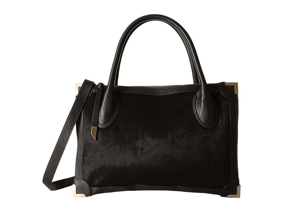 Foley & Corinna - Frankie Satchel (Black Haircalf) Satchel Handbags