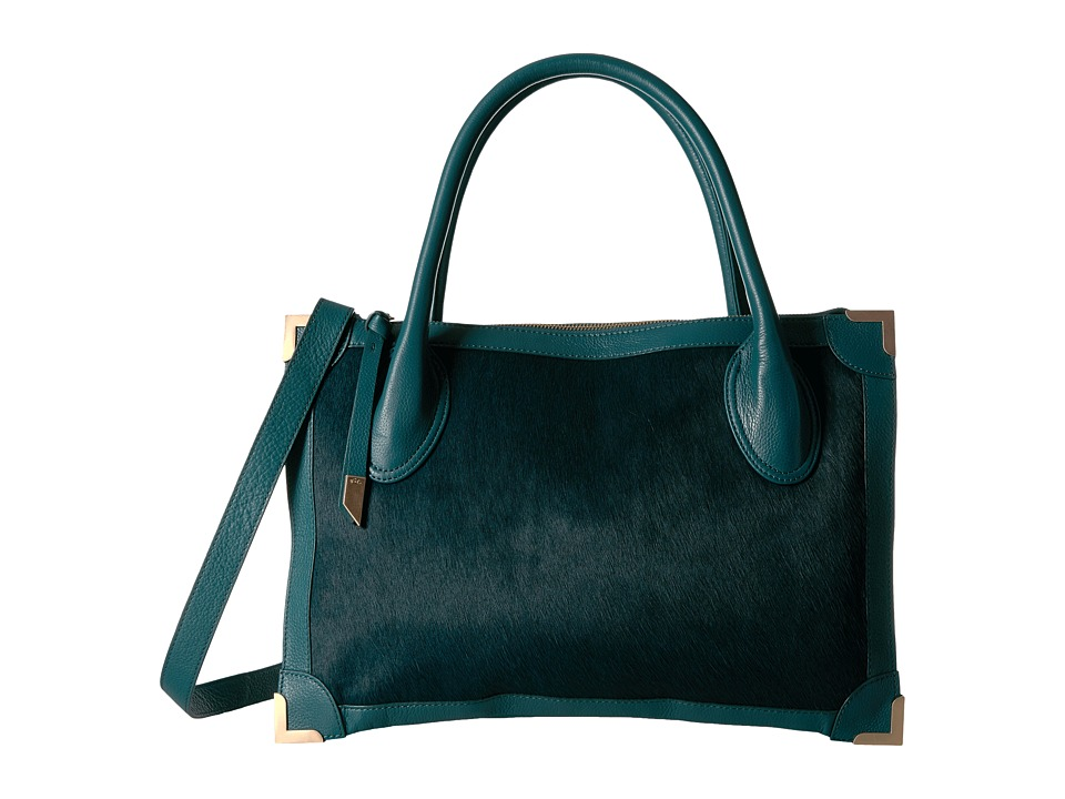 Foley & Corinna - Frankie Satchel (Peacock Haircalf) Satchel Handbags