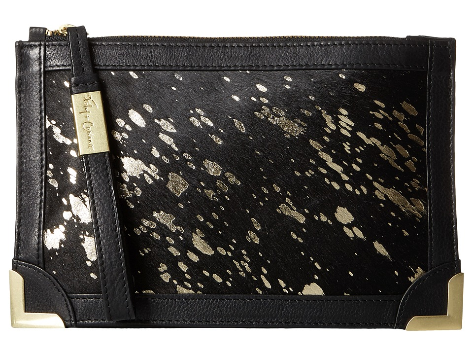 Foley & Corinna - Genesis Wristlet Clutch (Gold Flecked Haircalf) Clutch Handbags