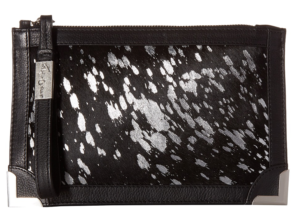 Foley & Corinna - Genesis Wristlet Clutch (Silver Flecked Haircalf) Clutch Handbags
