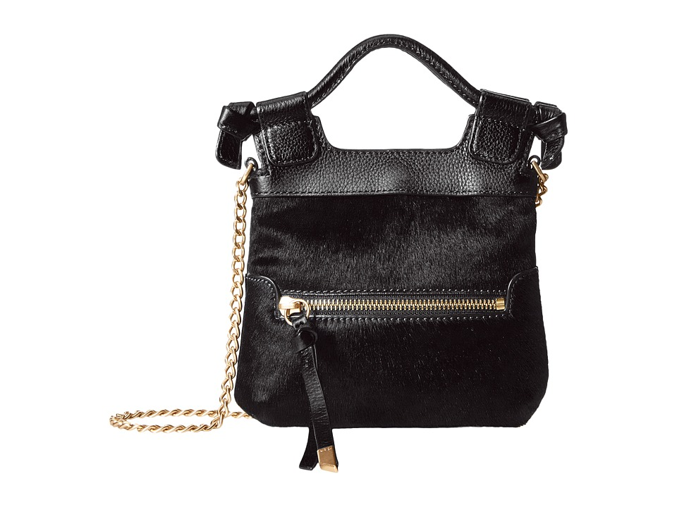 Foley & Corinna - Tiny City Crossbody (Black Haircalf) Cross Body Handbags