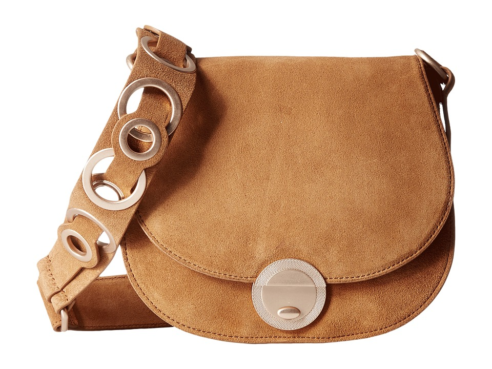 Foley & Corinna - Megan Saddle Bag (Honey Brown Suede) Bags