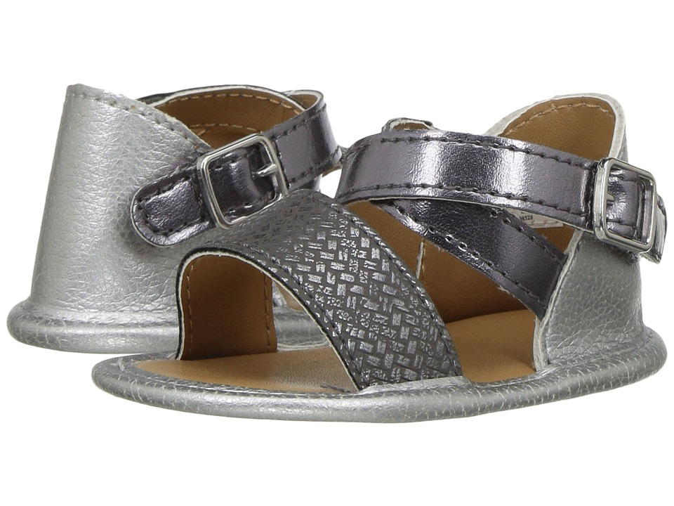 Baby Deer - Banded Sandal (Infant) (Silver) Girls Shoes