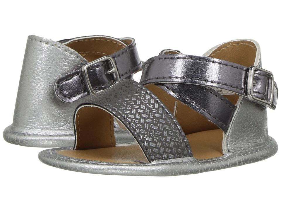 Baby Deer Banded Sandal (Infant) (Silver) Girls Shoes