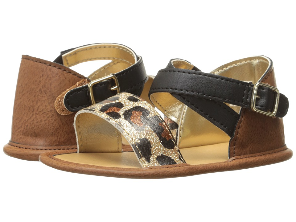 Baby Deer - Banded Sandal (Infant) (Tan/Leopard) Girls Shoes