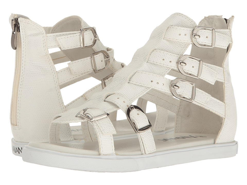 Image of Amiana - 15-A5380 (Toddler/Little Kid/Big Kid/Adult) (White Irridescent Snake) Girls Shoes