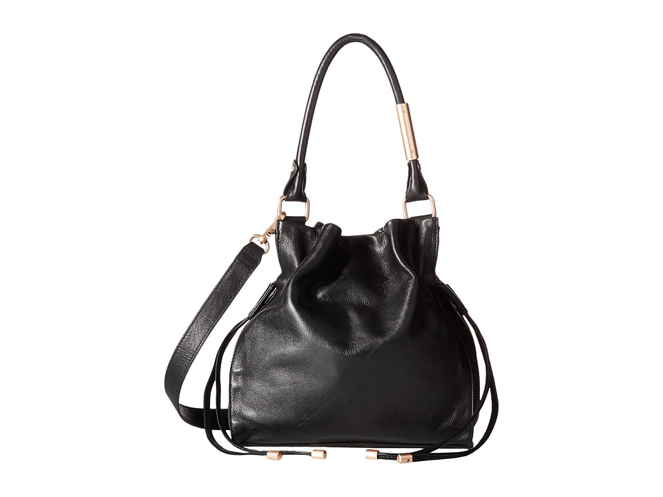 Foley & Corinna - Faye Small Drawstring Hobo (Black) Hobo Handbags