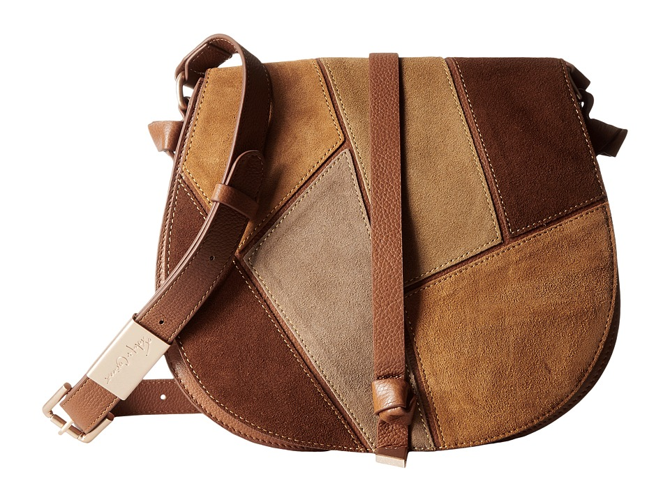 Foley & Corinna - Daisy Patchwork Saddle Bag (Neutral Multi) Bags