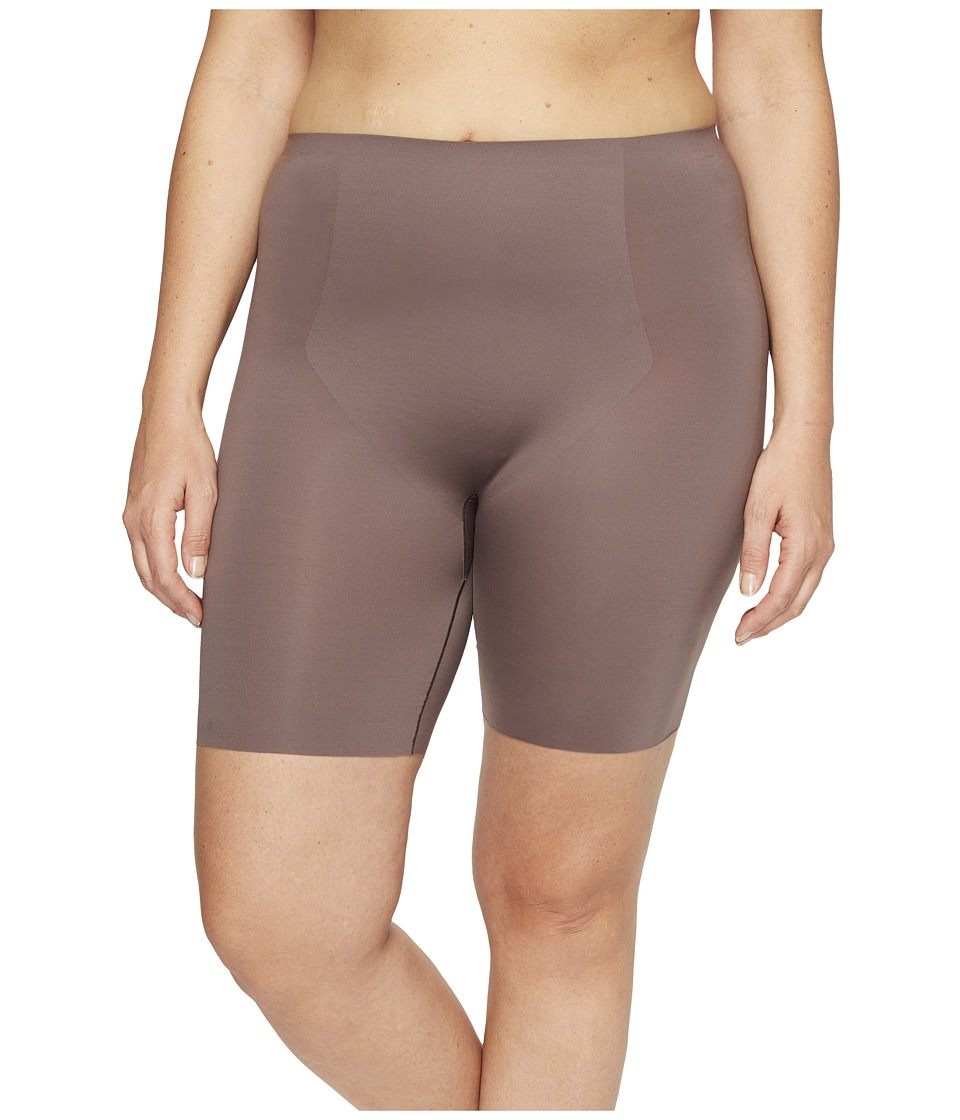 Spanx - Plus Size Thinstincts Mid-Thigh Short (Umber Ash) Women's Underwear