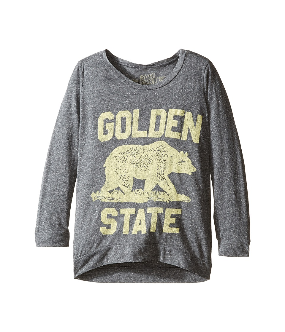 The Original Retro Brand Kids - Golden State Tri-Blend Pullover (Big Kids) (Streaky Grey) Girl's Clothing
