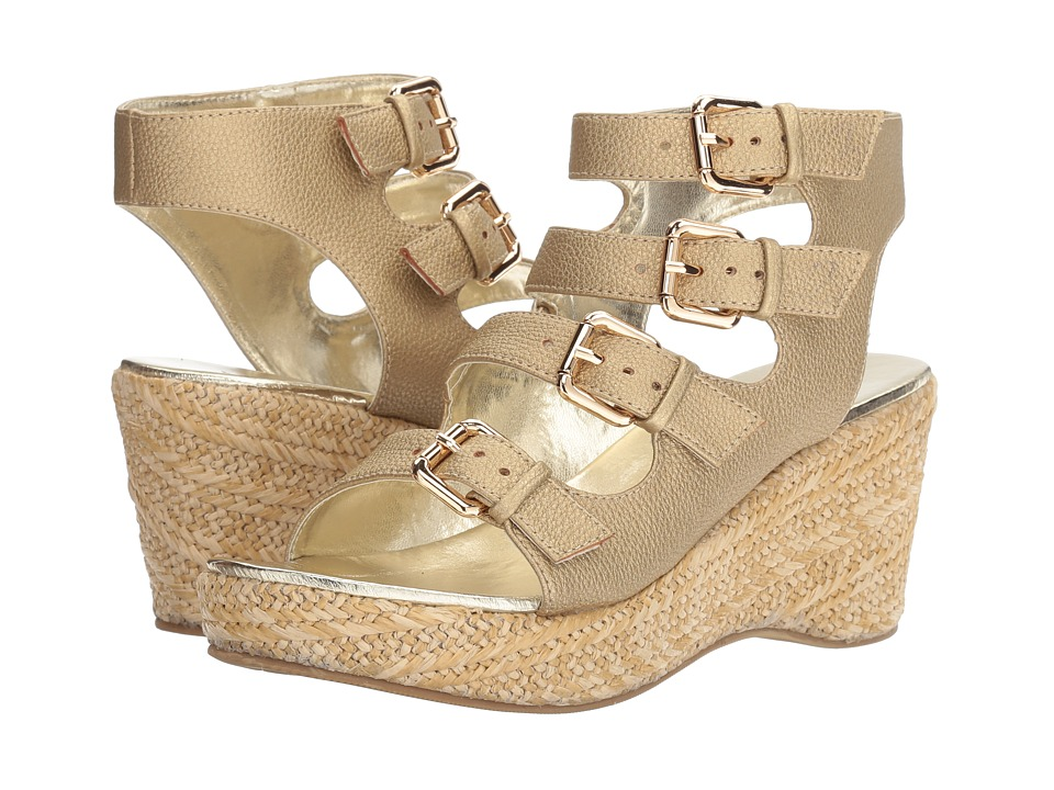 Image of Amiana - 15-A5442 (Little Kid/Big Kid/Adult) (Gold Tumbled Metallic) Girl's Shoes