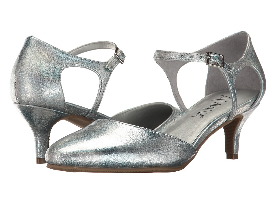 Image of Amiana - 15-A5451 (Little Kid/Big Kid/Adult) (Silver Aura Metallic) Girl's Shoes