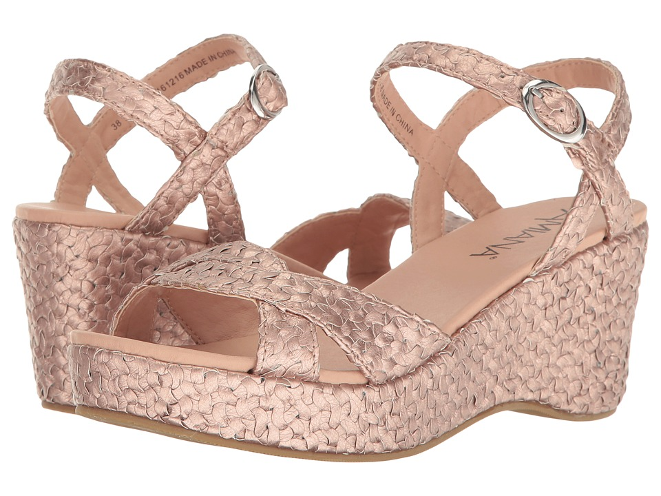Image of Amiana - 15-A5419 (Little Kid/Big Kid/Adult) (Rose Raffia) Girl's Shoes