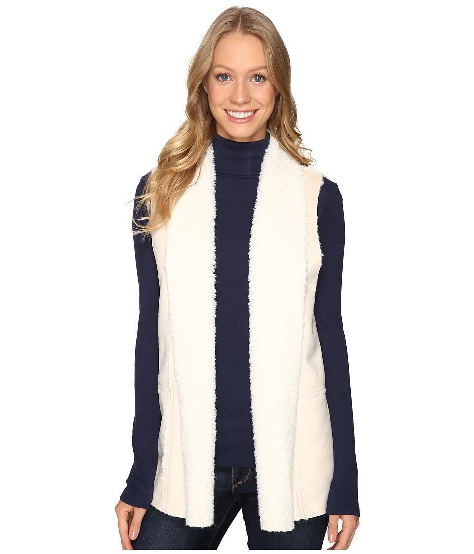 Karen Kane - Faux Suede Shearling Vest (Cream) Women's Vest