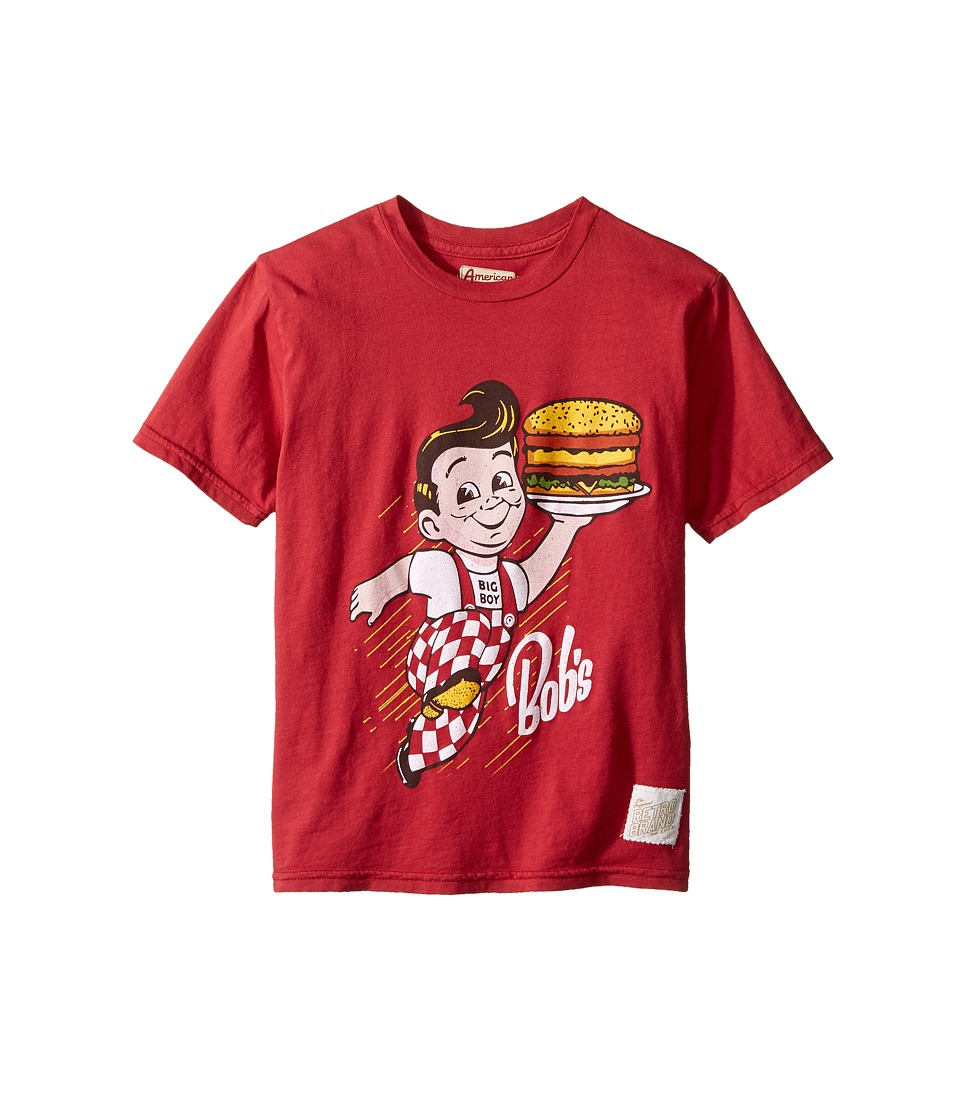 The Original Retro Brand Kids - Bob's Vintage Cotton Short Sleeve Tee (Big Kids) (Dark Red) Boy's T Shirt