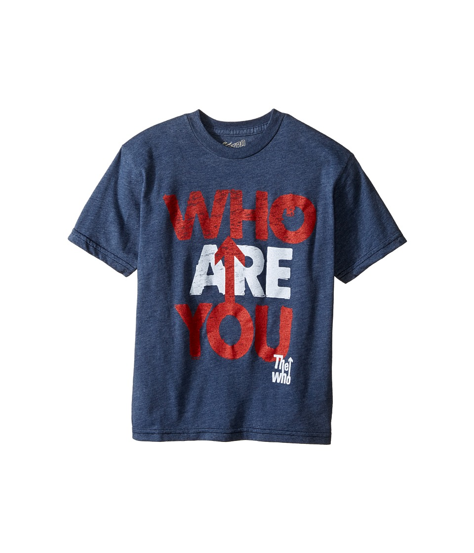The Original Retro Brand Kids - The Who Who Are You Short Sleeve Heathered Tee (Big Kids) (Heather Navy) Boy's T Shirt