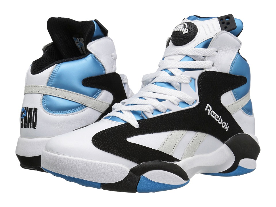Reebok Lifestyle - Shaq Attaq (White/Black/Azzure Steel) Men's Shoes