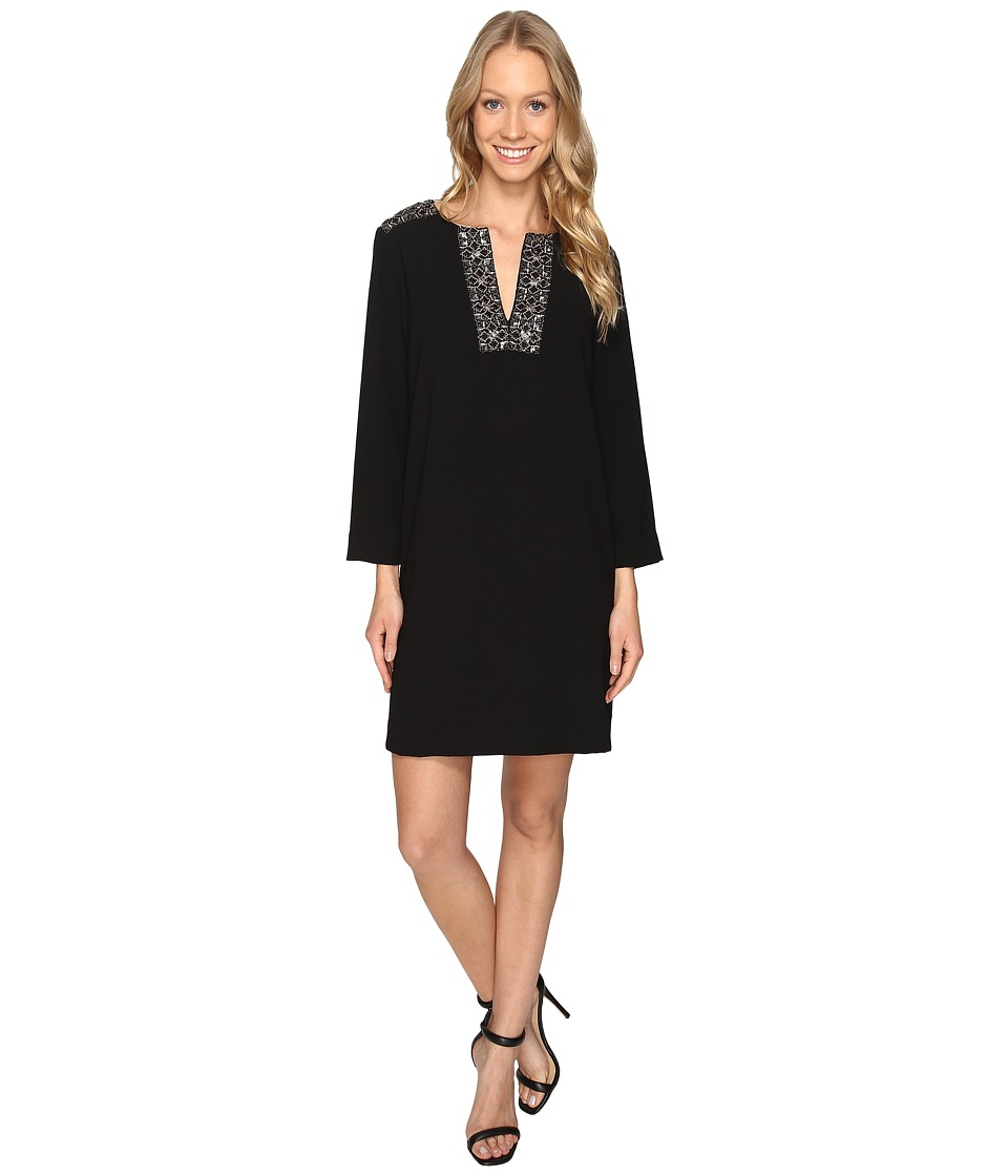 Karen Kane Embellished Shift Dress (Black) Women