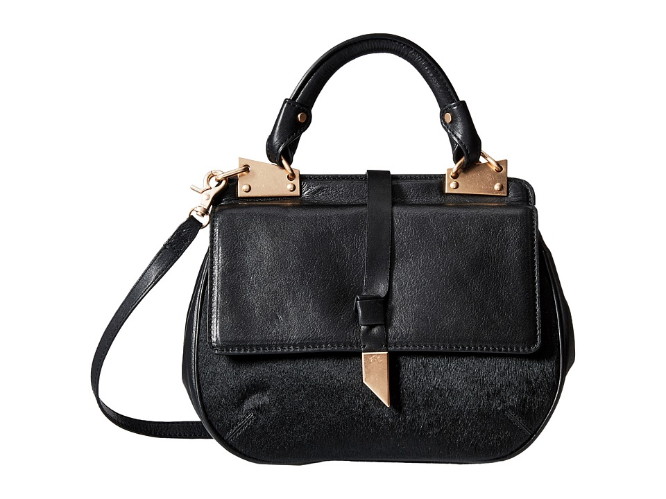 Foley & Corinna - Dione Saddle Bag (Black Haircalf) Bags