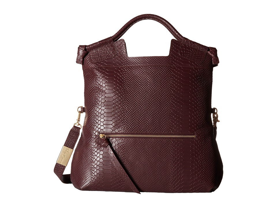 Foley & Corinna - Mid City Tote (Aubergine Serpent) Tote Handbags