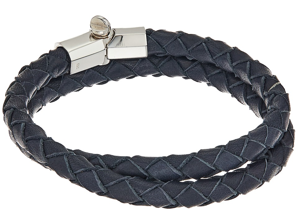 Miansai - Rovos Leather Double Wrap Bracelet (Navy) Bracelet