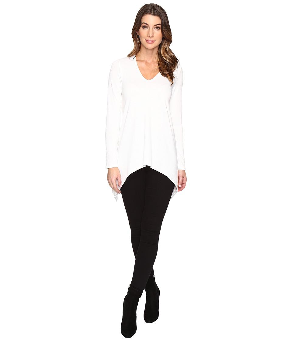 Karen Kane - V-Neck Handkerchief Tunic (Cream) Women's Blouse