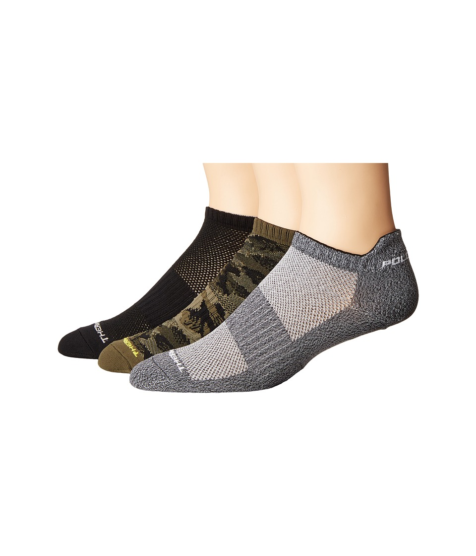 Polo Ralph Lauren - Brush Camo Low Cut 3-Pack (Olive) Men's Low Cut Socks Shoes