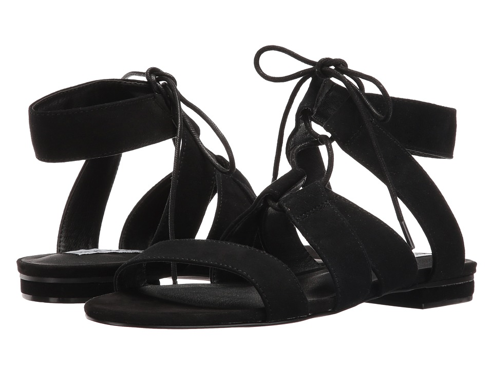 Steve Madden August Black Suede Womens Sandals