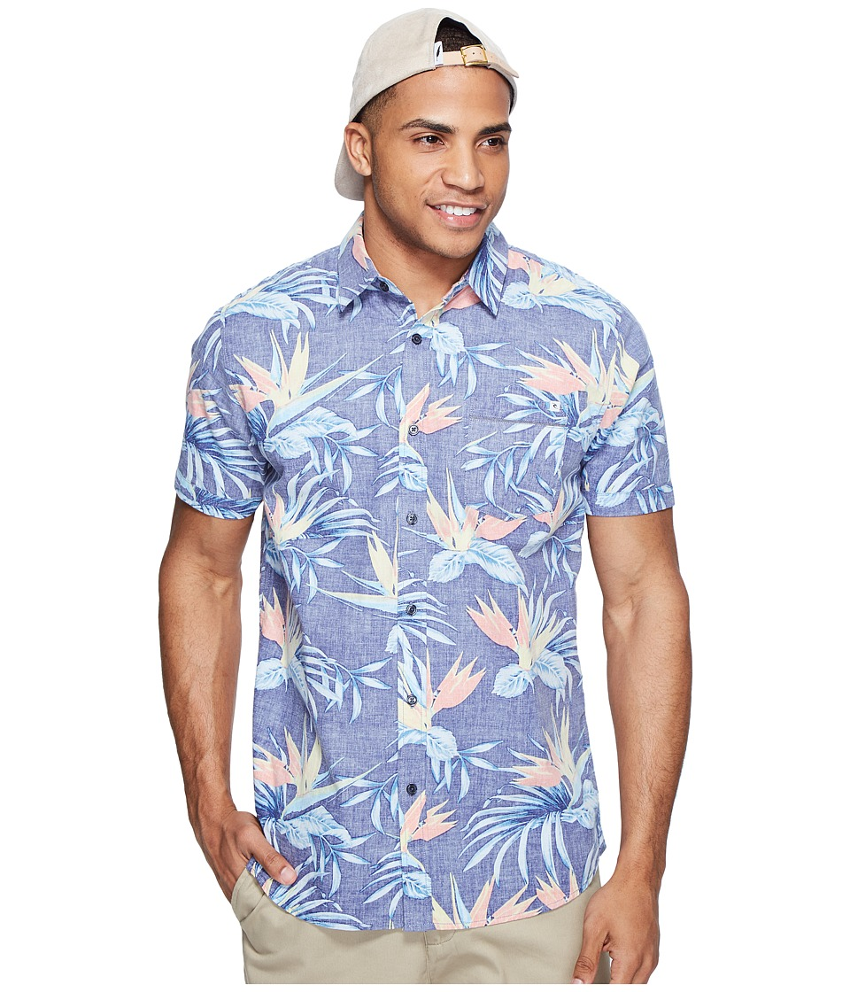 Rip Curl - Island Time Short Sleeve Shirt (Navy) Men's Clothing