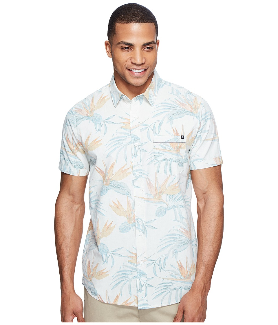 Rip Curl - Island Time Short Sleeve Shirt (Off-White) Men's Clothing