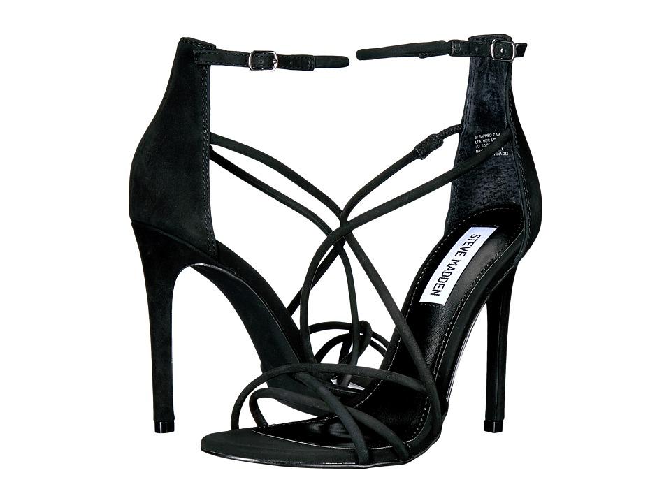 Steve Madden - Strapped (Black Nubuck) Women's Shoes