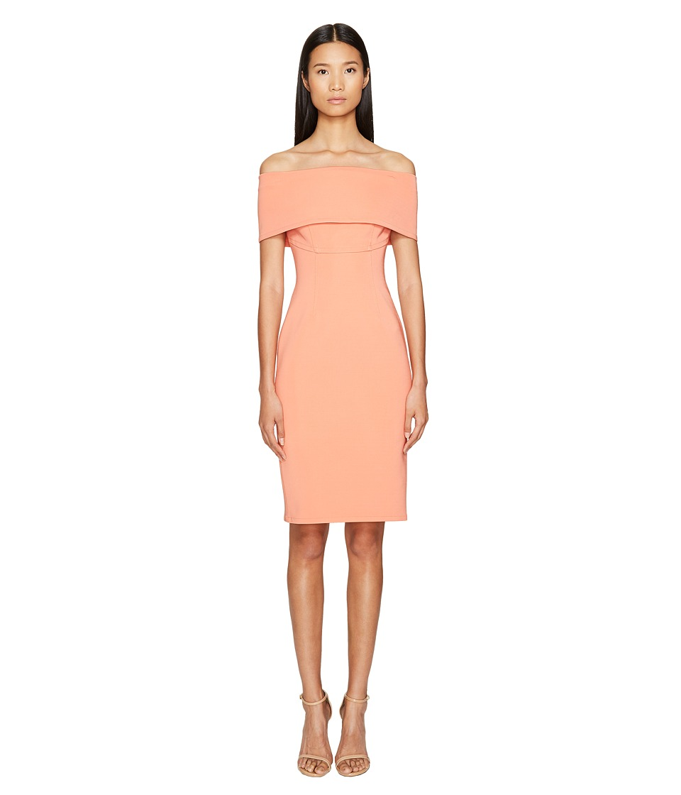 YIGAL AZROUEL Off the Shoulder Ms Dress (Guava) Women