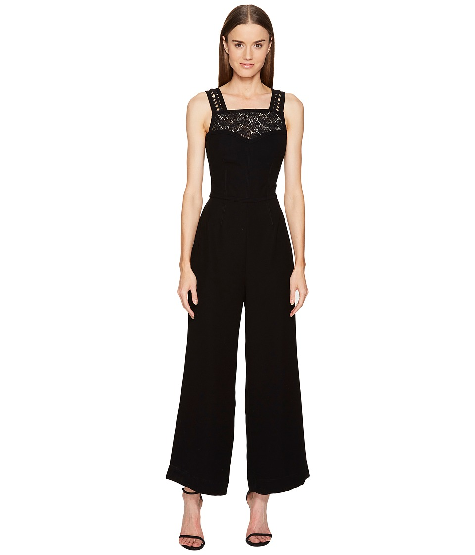 YIGAL AZROUEL - Apron Jumpsuit (Black) Women's Jumpsuit & Rompers One Piece