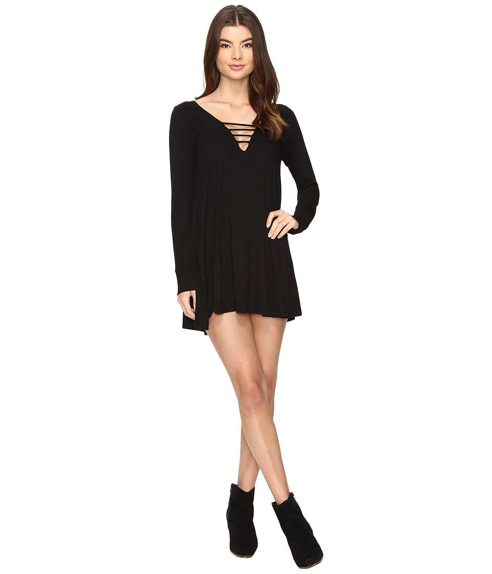 Lucy Love - Great Day Swing Dress (Solid Black) Women's Dress