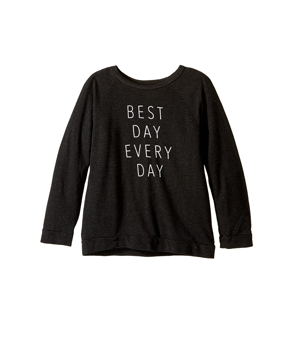 The Original Retro Brand Kids - Best Day Everyday Quad Pullover Sweatshirt (Big Kids) (Quad Black) Girl's Sweatshirt