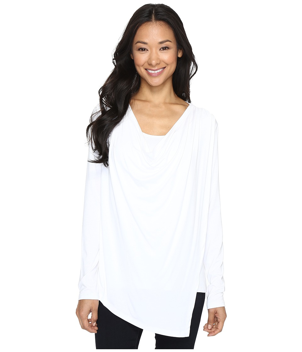 Karen Kane - Asymmetric Drape Top (Off-White) Women's Clothing