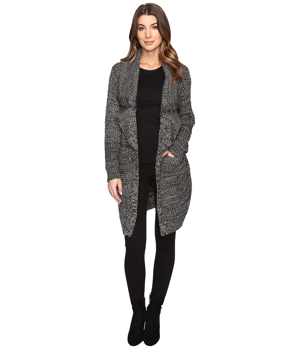 Karen Kane - Double Lapel Duster (Black/Khaki) Women's Clothing