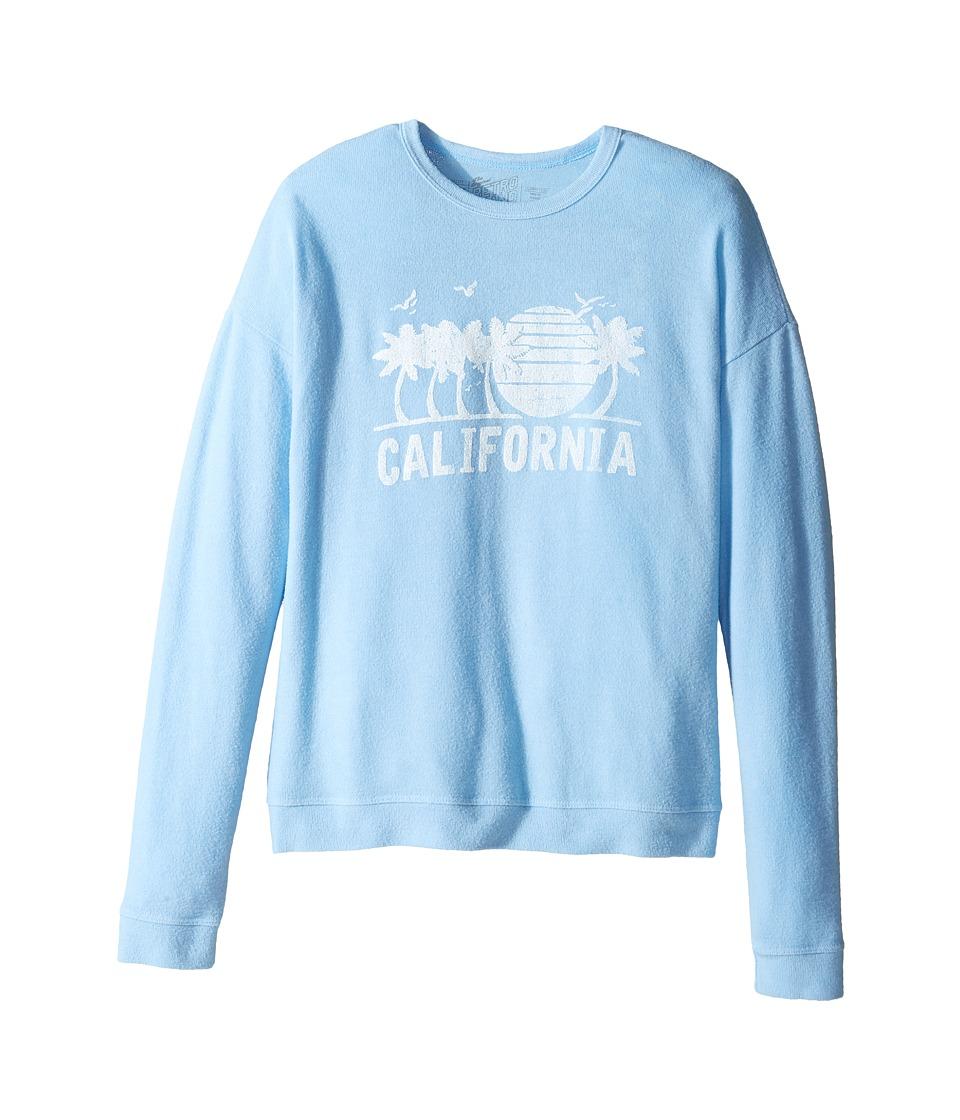The Original Retro Brand Kids - Super Soft Haaci California Pullover (Big Kids) (Carolina Blue) Girl's Clothing