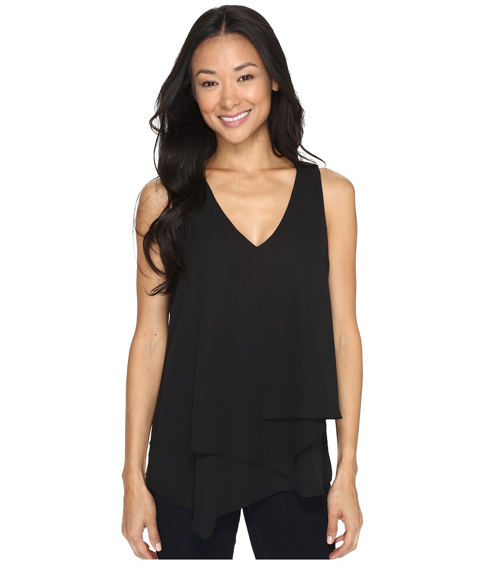 Karen Kane - Sleeveless Layered Blouse (Black) Women's Blouse