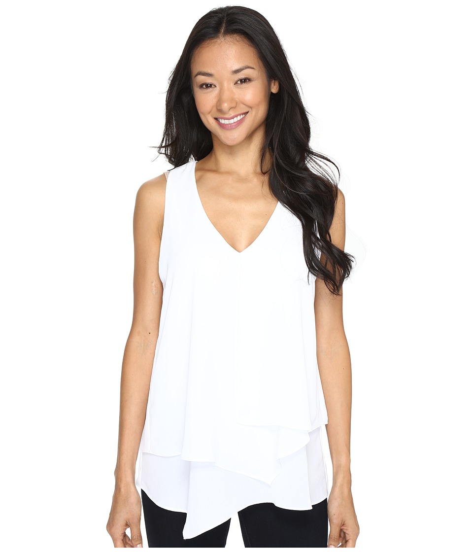 Karen Kane - Sleeveless Layered Blouse (Off-White) Women