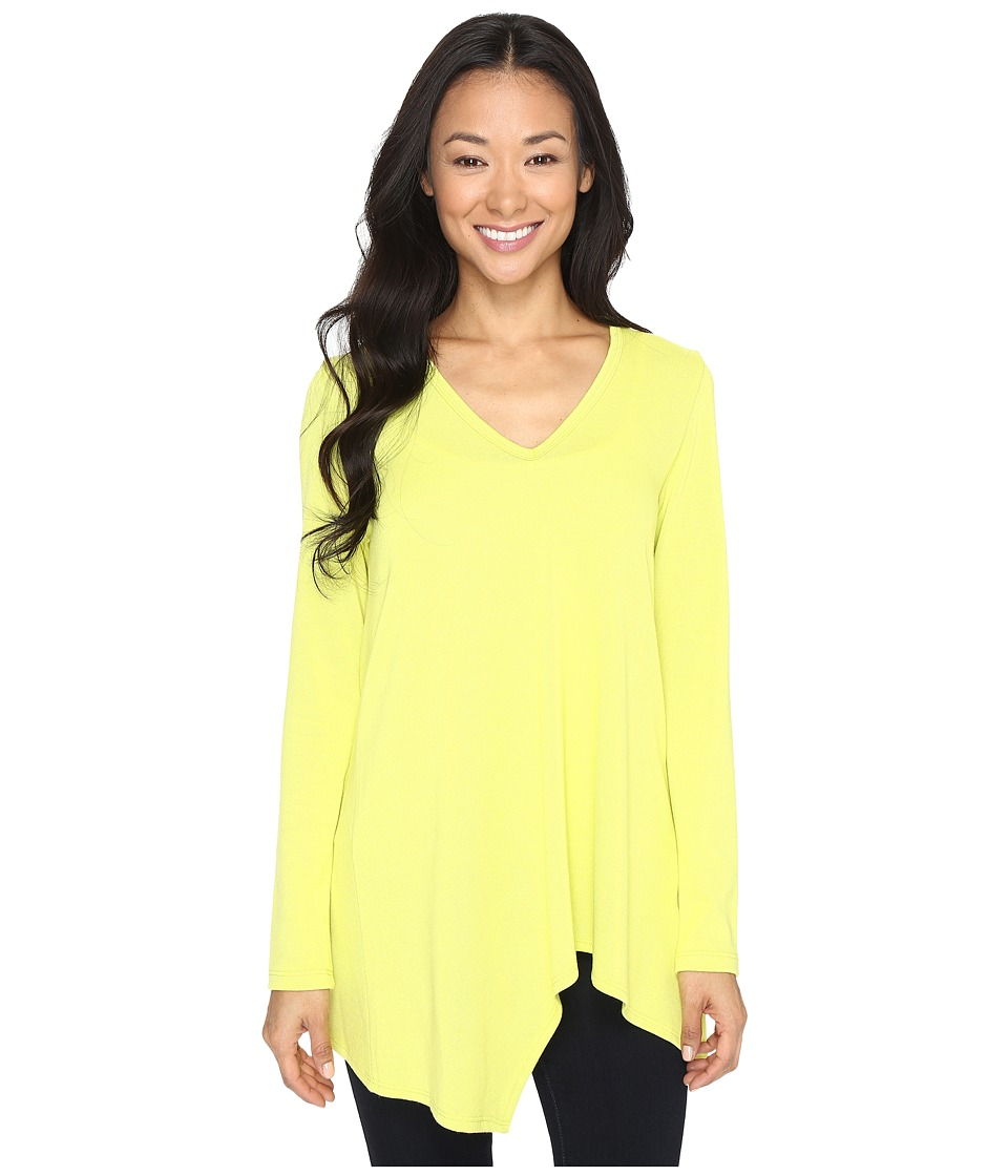 Karen Kane - Asymmetric Angled Top (Lime) Women's Clothing